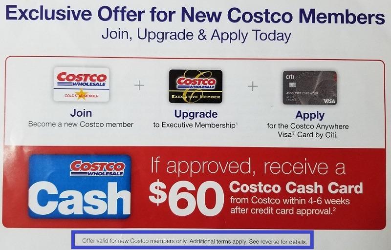 Costco 新会员办卡折扣优惠 申请Costco信用卡返$60美金