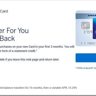Amex Blue Cash Everyday Card 信用卡, $250开卡奖励