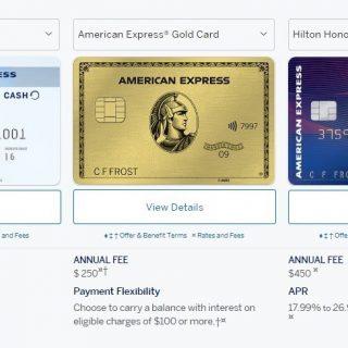 美国运通 Amex 常用信用卡推荐及简介