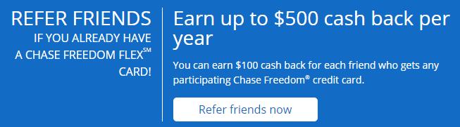 Chase Freedom Flex 推荐办卡赚$100