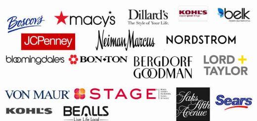 美国的主流百货公司完整列表