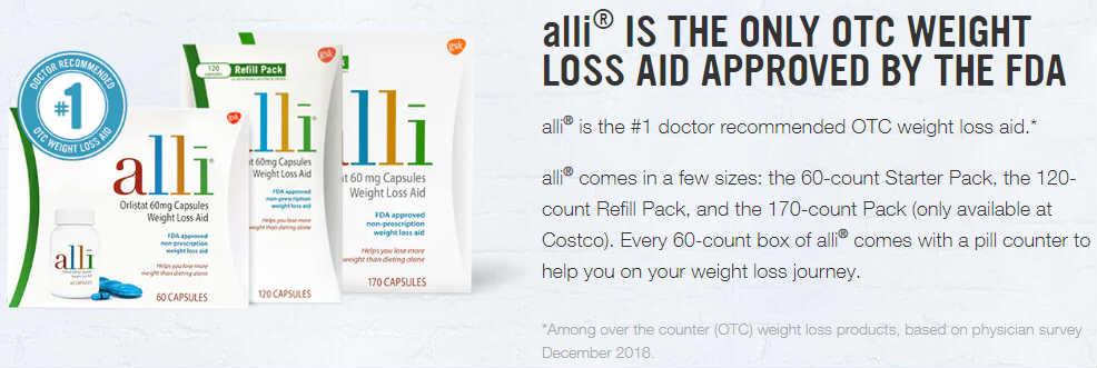 美国Costco #1系列保健品: alli 爱丽