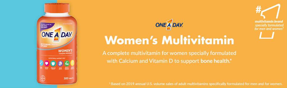 美国Costco #1系列保健品: One A Day 男性女性特别配方复合维生素